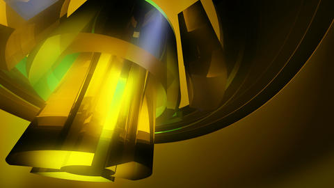 yellow spinning glass Stock Video Footage