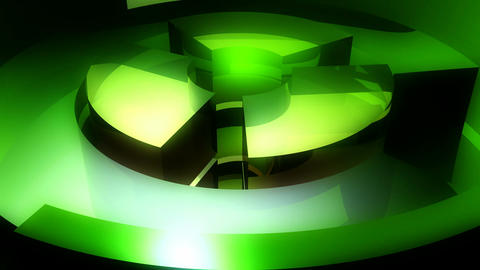 green spinning tubes Animation