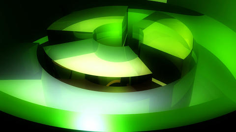 green spinning tubes Stock Video Footage