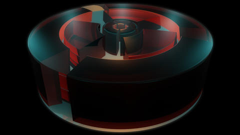 reactor engine cylinder with alpha Animation