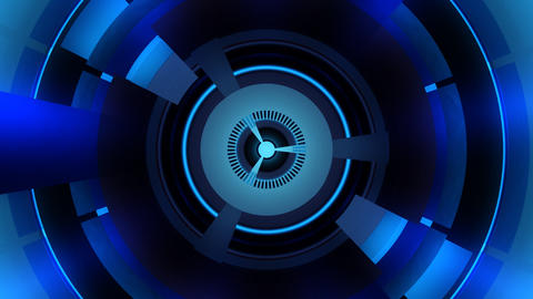 blue energy turbine with alpha Stock Video Footage