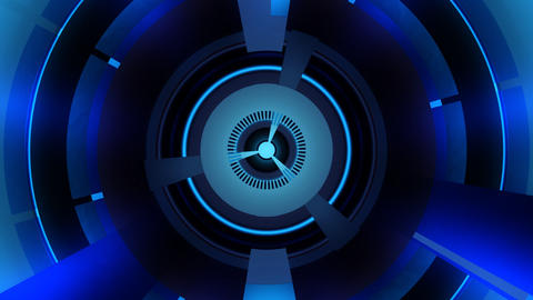 blue energy turbine with alpha Stock Video Footage