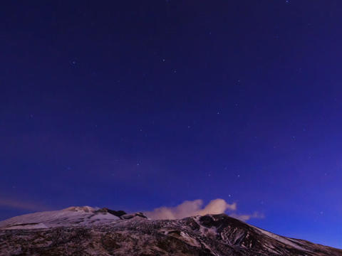 Dawn above the volcano Etna. Sicily, Italy. Time L Stock Video Footage