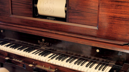 Piano vintage automatic ghost play editorial Stock Video Footage