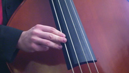 Playing double bass 2 Stock Video Footage