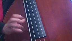 Playing double bass 2 Footage