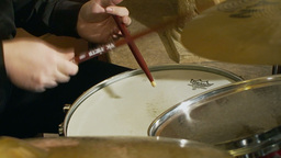 Playing drums 2 Stock Video Footage
