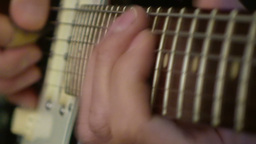 Playing electric guitar 1 Stock Video Footage