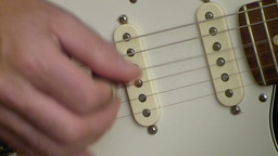 Playing electric guitar 3 Stock Video Footage