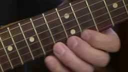 Playing electric guitar 5 Footage