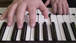Playing piano keyboard 2 Footage