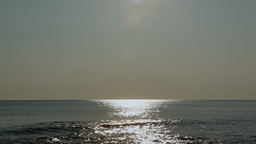 Sea horizon sun reflections relaxing long scene Stock Video Footage