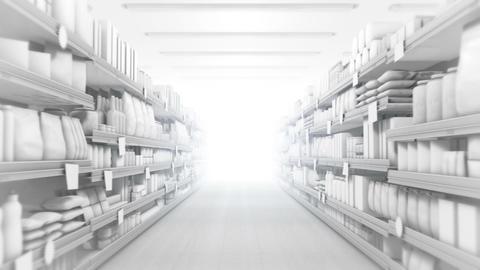 Supermarket Aisle Stock Video Footage