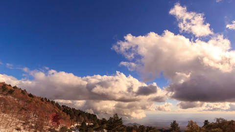 Clouds over the valley. Time Lapse Stock Video Footage