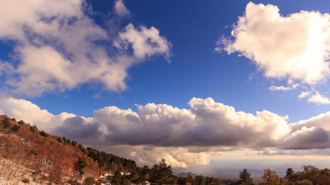 Clouds over the valley. Time Lapse Footage