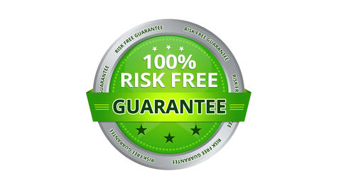 Risk Free Guarantee Stock Video Footage