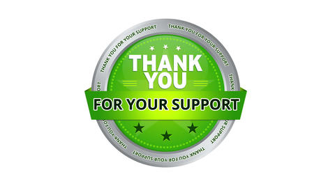 Thank you for your support sign Animation