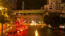 Victory Monument Time Lapse in Bangkok, Thailand Stock Video Footage