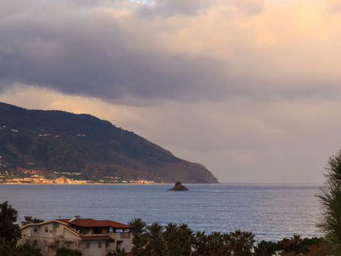 Cape. Coast of Sicily. Italy, Time Lapse Stock Video Footage
