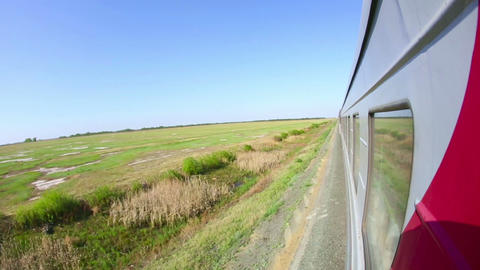 Railway journey Stock Video Footage