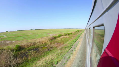 Railway journey Stock Video Footage