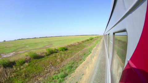 Railway journey Footage
