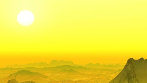 Yellow rocky desert Stock Video Footage