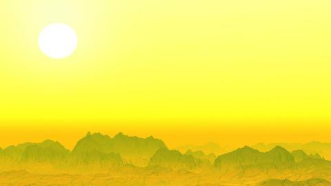 Yellow Rocky Desert stock footage