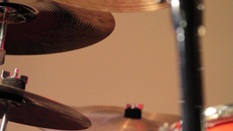 Hitting Two Cymbals stock footage
