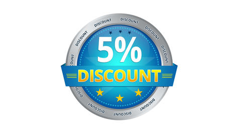 5 percent Discount Stock Video Footage