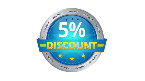 5 Percent Discount stock footage
