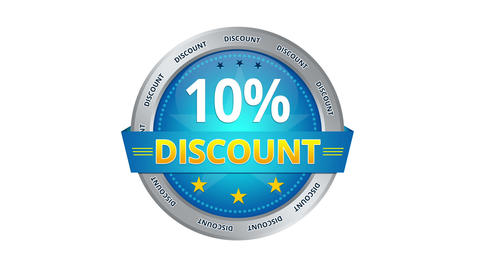 10 Percent Discount stock footage