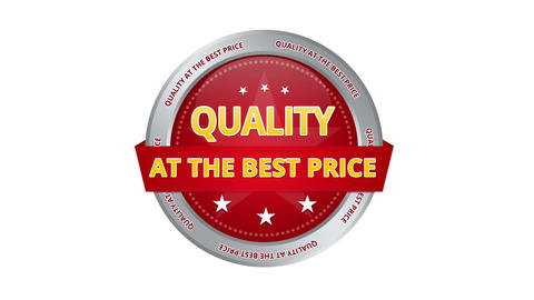 Quality At The Best Price stock footage