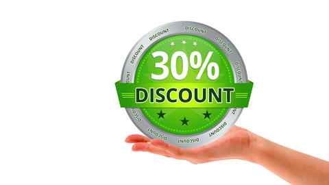 30 Percent Discount stock footage
