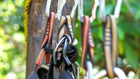Mountain Climbing Carabiner Stock Video Footage