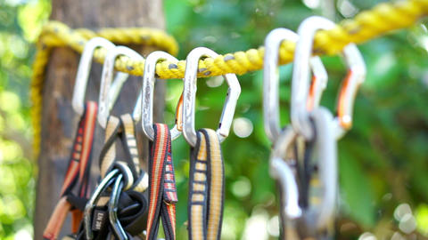 Mountain Climbing Carabiner Stock Video Footage