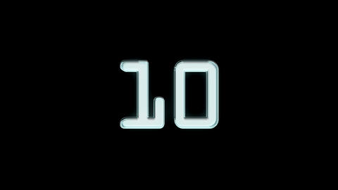 10to 1 countdown black Stock Video Footage