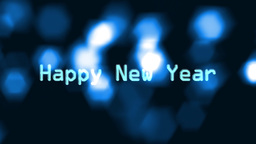 10to 1 countdown blue flare new year Stock Video Footage