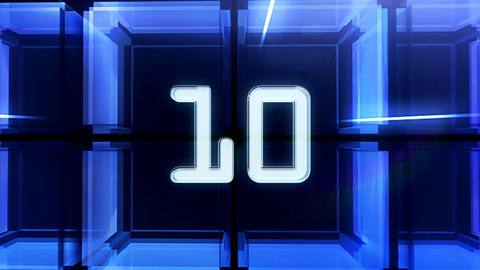 10to 1 countdown cube Stock Video Footage