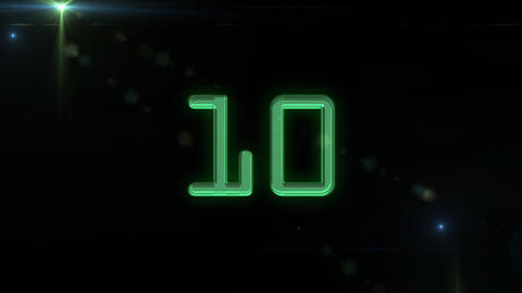 10to 1 countdown flare green Animation