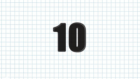 10to 1 countdown paper Stock Video Footage
