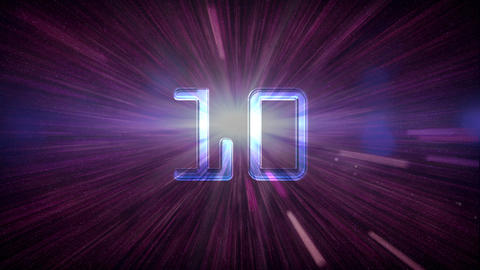 10to 1 countdown space Animation