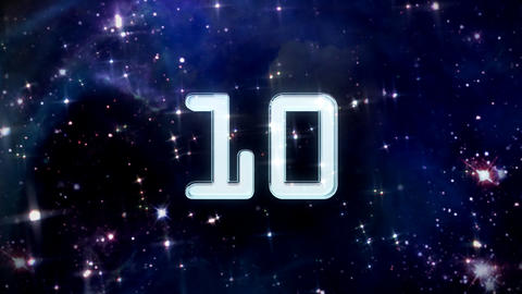 10 to 1 countdown star Stock Video Footage