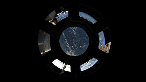 4 K Over the Earth Fisheye Stock Video Footage