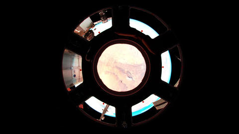 4 K Over the Earth Fisheye Footage