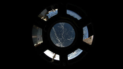 Over the Earth Fisheye Stock Video Footage