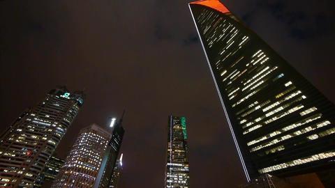 urban building,shanghai pudong economic center landmarks... Stock Video Footage