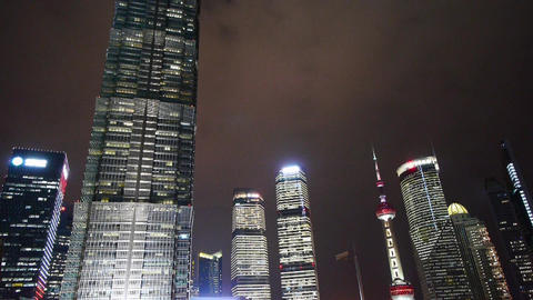 urban building,shanghai lujiazui economic center &... Stock Video Footage