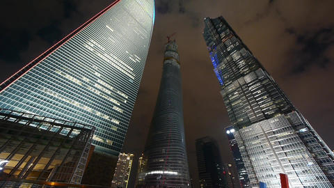shanghai lujiazui business center building,modern urban... Stock Video Footage