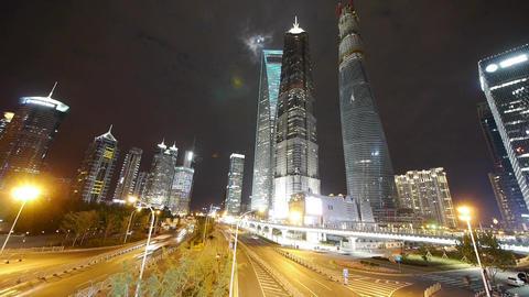 timelapse,urban traffic at night,modern finance... Stock Video Footage